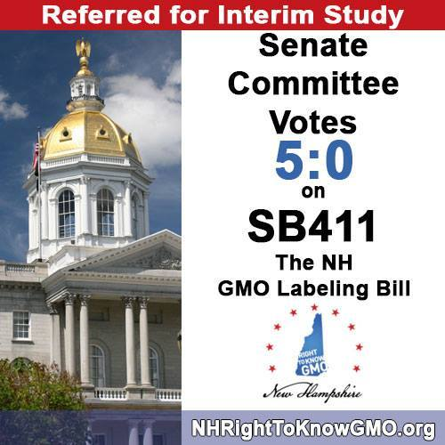 Unanimous Vote to Keep GMO Labeling Bill Alive in New Hampshire
