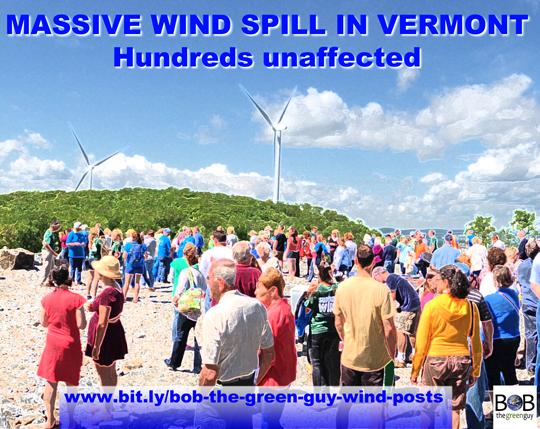Massive wind spill in Vermont