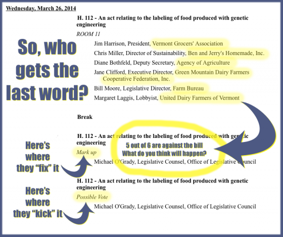 Who gets the last word on GMOs in Vermont? Big-business lobbyists?