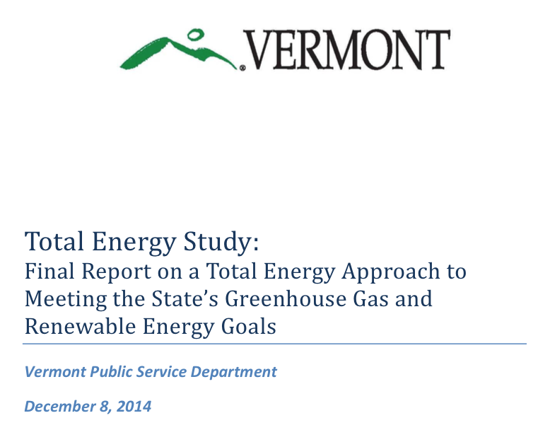 Good news from the Vermont Total Energy Study