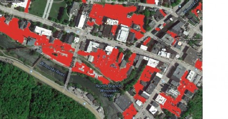 Vermont's capital city, Montpelier, allocates a lot of space for cars.