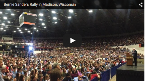 Bernie Sanders Rally in Madison Wisconsin
