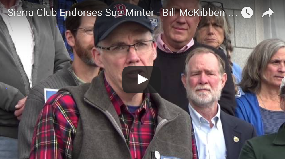 Bill McKibben Stands Up for Sue Minter for Vermont Governor