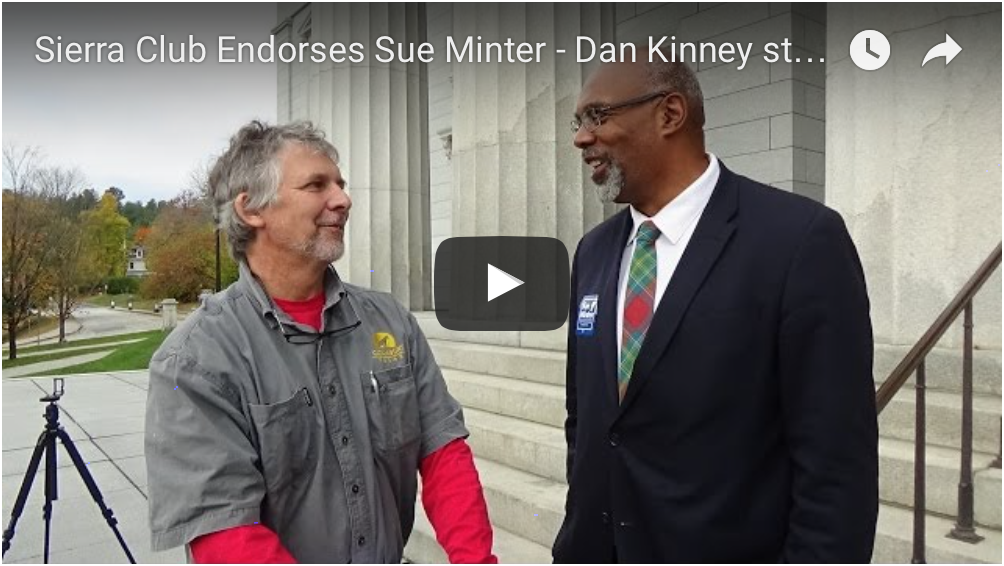 Dan Kinney of Catamount Solar Supports Sue Minter for VT Governor