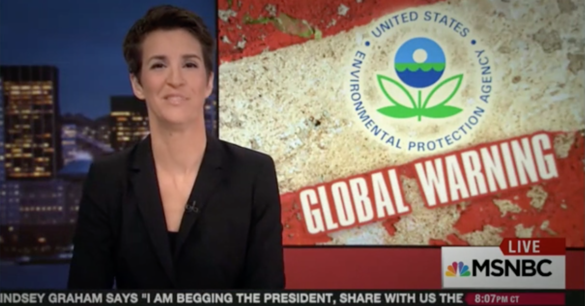 Rachel Maddow exposes President's muffling of EPA and others