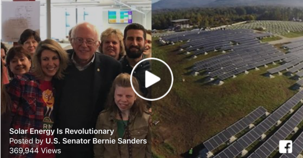 Solar Energy is Revolutionary with Bernie Sanders