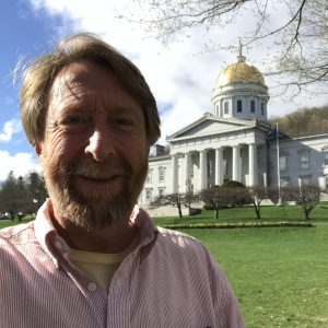 Me in front of VT State House