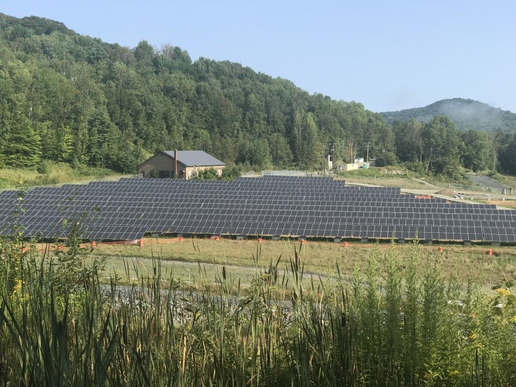 Solar farm in South Strafford Vermont built on former Superfund site at Elizabeth Mine