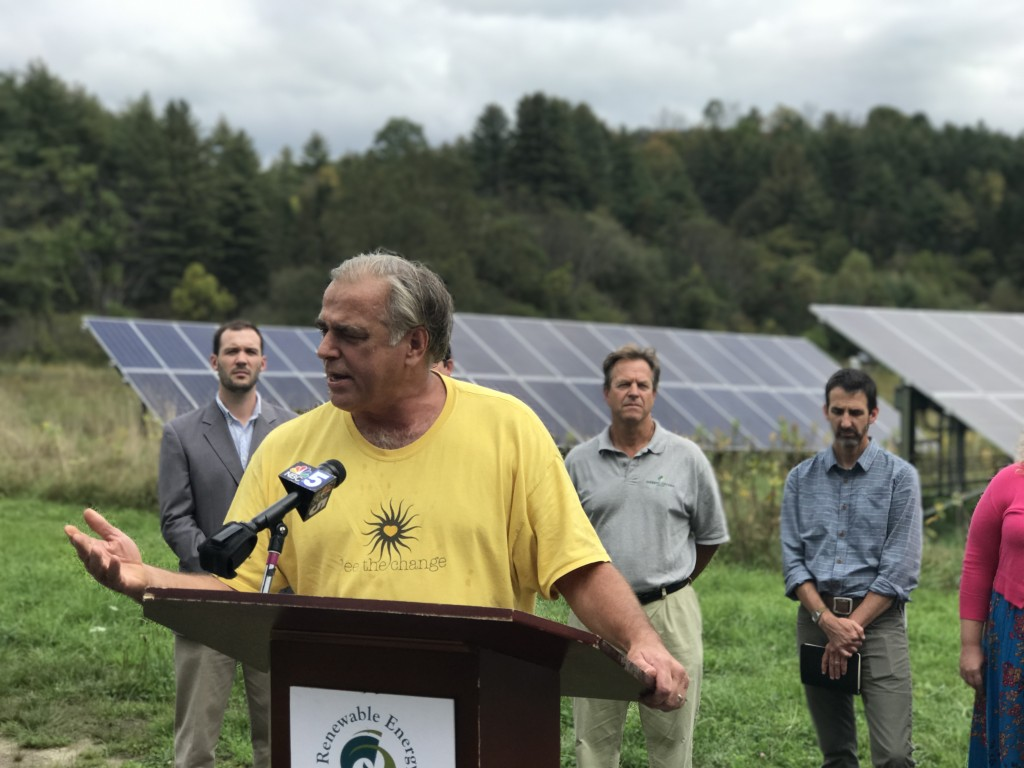 """There is an opportunity to use the space under solar fields, wind towers, and power lines to restore critical habitat for our declining pollinators,"" said Mike Kiernan of Bee the Change"
