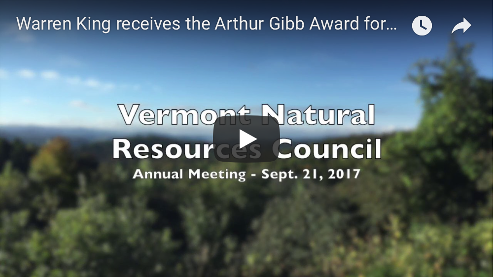 Warren King receives the 2017 Arthur Gibb Award