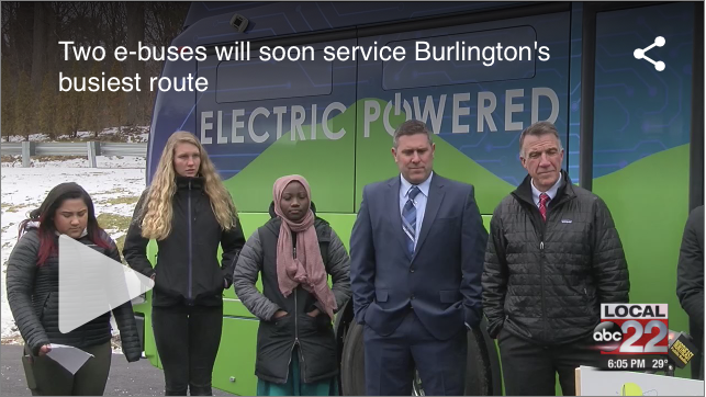 Burlington Vermont Gets Two Electric Buses