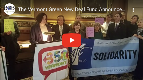 Vermont Green New Deal (S.311) Announced at State House